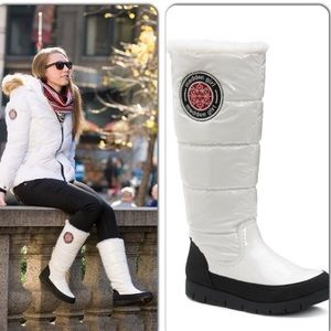 Madden girl igloo snow boots white sz 6